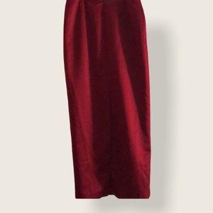 Shani red skirt